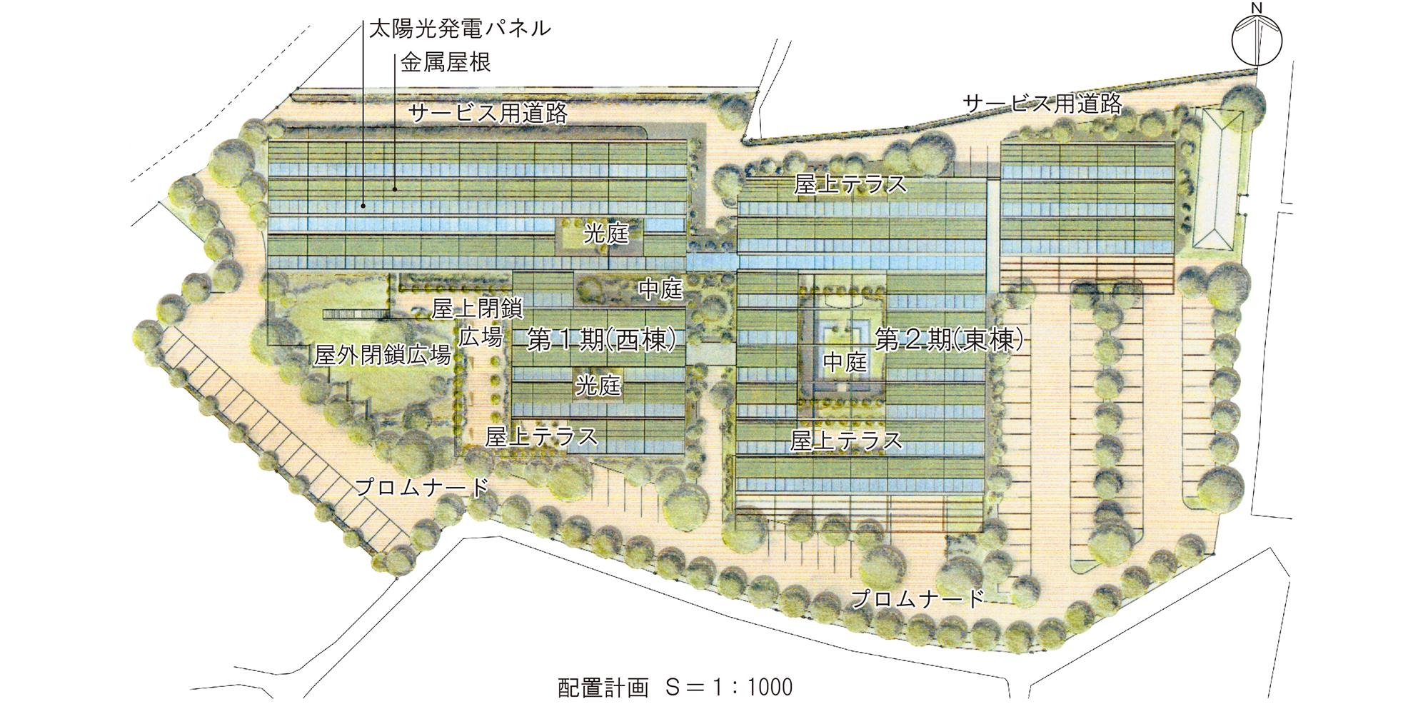佐藤建築事務所「岡山県立岡山病院計画案」